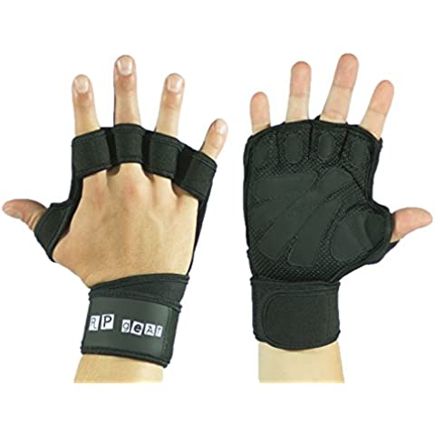 RP Gear guanti da allenamento–aperto 2in 1con tutore per polso, per body building, Crossfit, body building Guanti da fitness, nero, S - Adidas Stati Corto