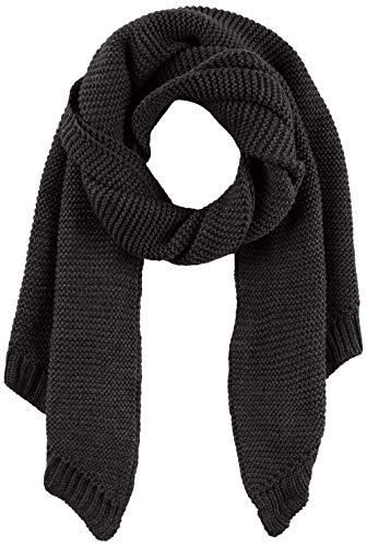 PIECES Damen Schal PCDACE Long Wool Scarf NOOS, Grau Dark Grey Melange, One Size