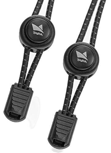 Taipa Laces - Schnellschnürsystem I Elastische Schnürsenkel mit Schnellverschluss für Kinder und Sportler (Schwarz)