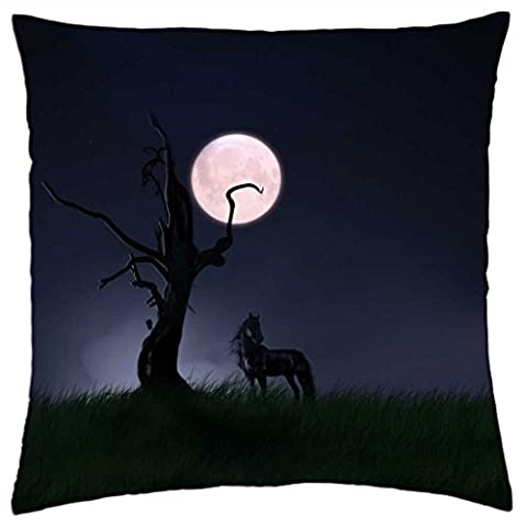 iRocket - Lonliness for horse - Throw Pillow Cover (24