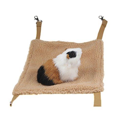 emours Kleintiere Hängematte Hamster Haus zum Aufhängen Bett Käfig Spielzeug für Mäuse Ratten Frettchen Chinchilla und mehr, Braun