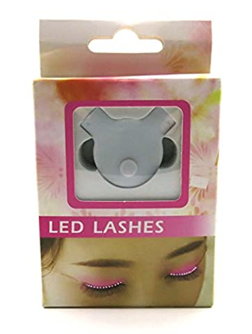 LED Faux-cils Fausse Paupière, Éclat Interactif Lumineux Portable Lumière LED Allumée Cils Imperméables Pour Fête Boîte De Nuit Bar Halloween