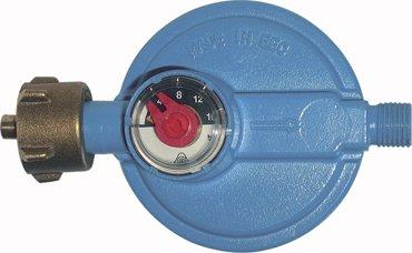 Universal-Sicherheitsregler mit Manometer für alle 5 und 11 kg Propangasflaschen