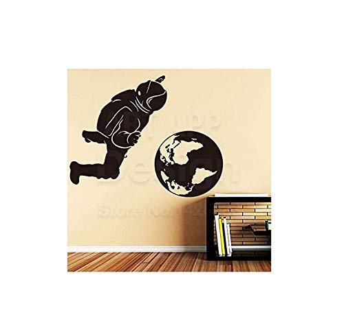 Wandaufkleber Applikation Tapetekunst Wohnkultur Vinyl Astronaut Und Die Erde Wandaufkleber Bunte Haus Dekoration Raum Sport Zimmer Decals 28 * 68 Cm