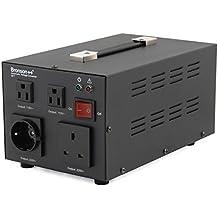 Bronson++ AVT 2000 - Transformador de 110/120 Voltios Convertidor de Voltaje EE.UU. - 2000 Vatios - Núcleo Toroidal Elevador / Reductor - Bronson 110V 120V 2000W