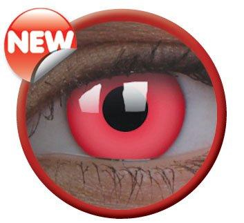 Colourvue Crazy Lens UV-Glow Red, 2 Stück/BC: 8.6 mm/DIA: 14.0/0,00 Dioptrien