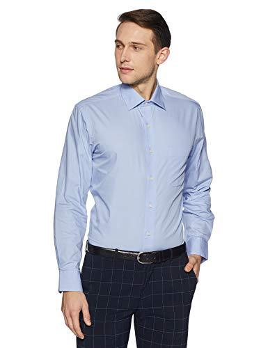 Arrow Men's Plain Regular Fit Formal Shirt (8907538866424_Blue_44)