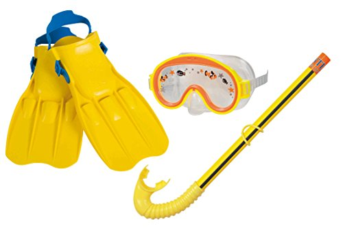 Intex Set buceo máscara, tubo y aletas adventure 3/8 años - 55951