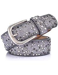 Chengzuoqing Cinturon de Mujer Cinturón Reversible de Cuero para Mujer  Pantalones de Vestir de Jeans Cinturón ecd0bbbc5d68