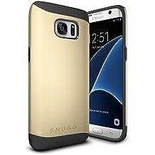 Funda Galaxy S7 Edge, Snugg Samsung Galaxy S7 Edge Case Slim Carcasa de Doble Capa [Infinity Series] Revestimiento con Protección Anti-Golpes – Oro