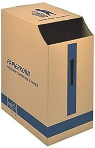 DINKHAUSER DINKHAUSER Corbeille à papier en carton ondulé, capacité 2500 feuilles - L22,7 x H47,5 x P32,7 cm brun