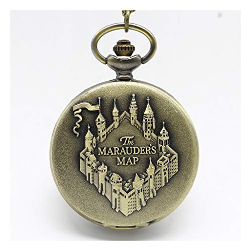 Familie Kostüm Zug - CLX Taschenuhr und Kette for Männer, Vintage Large Clamshell Watch, als älteres Geschenk/Jubiläum/Vatertag Peaky Blinders Kostüm cxff (Color : A)