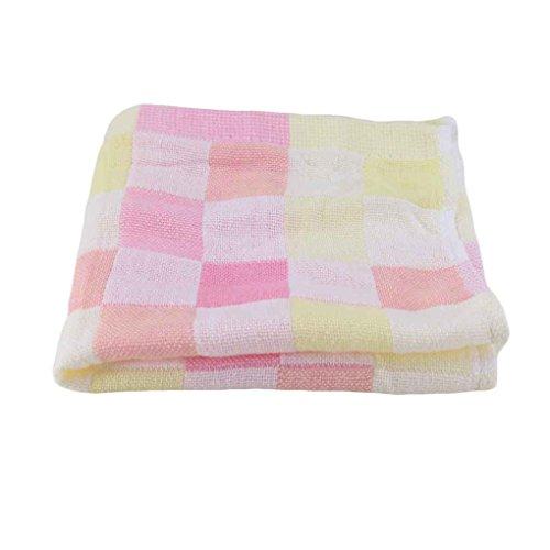Zerama 28 * 28cm Quadrat Handtücher Baumwollgaze Kariertes Tuch Kinder Lätzchen täglichen Gebrauch Hand Gesicht Handtücher für Kinder