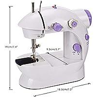 TopDiscover - Máquina de coser. Mini máquina de coser portátil de 2 velocidades con luz