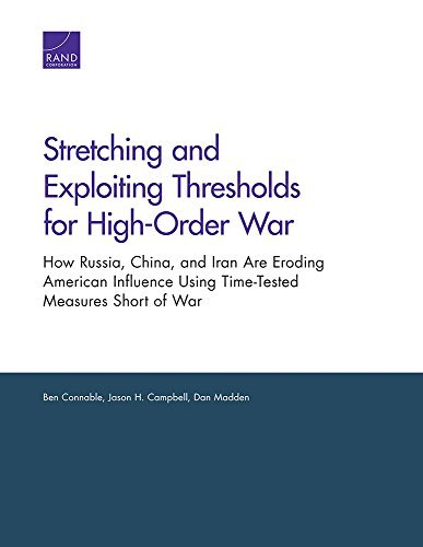 Stretching and Exploiting Thresholds for High-Order War: How Russia, China, and Iran Are Eroding American Influence Using Time-Tested Measures Short of War by Ben Connable (2016-07-07) par Ben Connable;Jason H. Campbell;Dan Madden