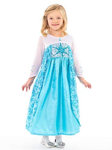 Princess Kostüm Up Dress - Little Adventures Ice Princess Dress up Kostüm für Mädchen - Groß (5-7 Jahre)