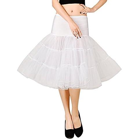 FEOYA 50s Retro Vintage Falda Enagua de Tutú Rockabilly Net Petticoat Skirt Longitud 65cm Muchos Colores a