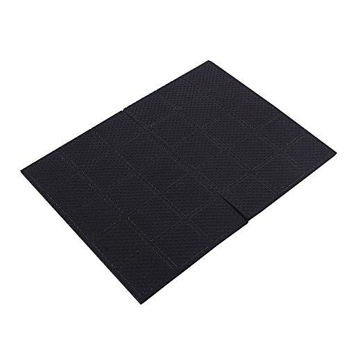 GLOGLOW 30 Rutschfeste Selbstklebende Pads Rechteck Unteren Bodenschutz Silent Feet Cover für Möbel Tisch Stuhl (Silent Feet-anti-vibration)