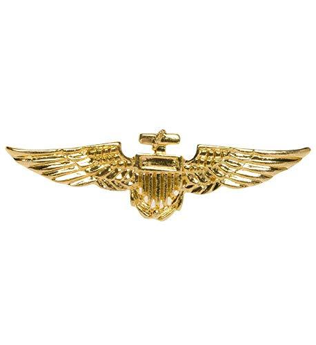 shoperama Goldenes Fliegerabzeichen Brosche Aviator Stewardess Pilot Abzeichen Anstecker -