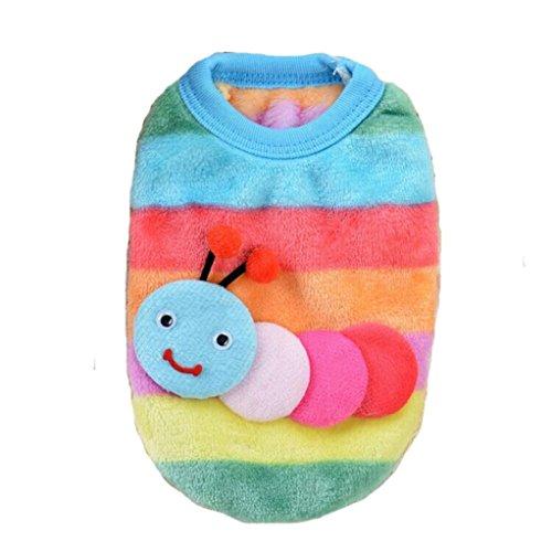 l-Kostüm für kleines Haustier-Hund Nettes Gleiskettenfahrzeug-Entwurfs-Kleidung Welpen-Baby-Weste-Jacken-Haustier-Katzen-Kleid (XXS) (Baby Kostüme Katze)