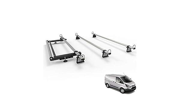 Portapacchi per Ford Transit Custom Van Workready 3 Barre Set Con