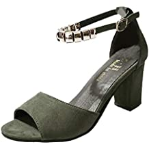 Darringls_Sandalias de Verano Mujer,Sandalia calados Peep Toe Mujer Zapato Fondo Plano Cinturon de Tacon