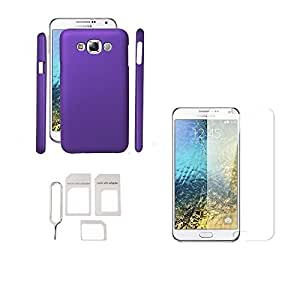 JK Shop Hard Matte Back Cover For Samsung Galaxy A7(Purple)