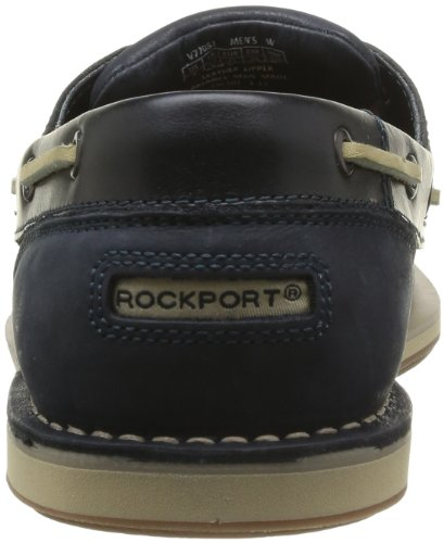 Rockport Perth, Chaussures bateau homme Bleu (Navy Lth/Nbk)