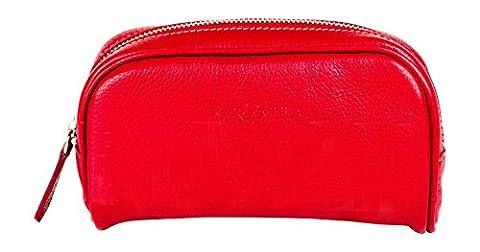 Italien sac à maquillage en cuir fashion par Farfalla – - rouge - Red, Taille unique
