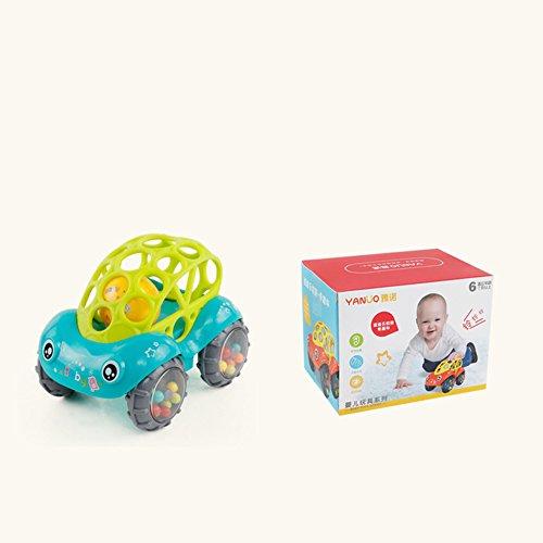 Zantec Baby Soft Hand Greifen Loch Glocke Ring Auto Nette Beißring Rassel Spielzeug für Kinder (Kostüm Elmo Baby)