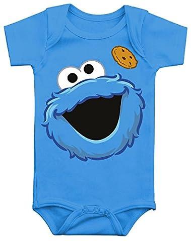 Sesamstraße Cookie Monster Body blau 62/68