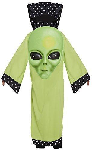 en Mädchen Halloween Karneval Riesige Gesicht Alien Kostüm Kleid Outfit 4-12 Jahre - 7-9 Years ()