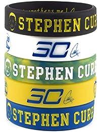 Baloncesto de la NBA Stephen Curry Retrato Pulsera número 30 DE Silicona Deporte Inspirador Palabra Pulsera