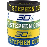 Lorh's store NBA Basketball Stephen Curry Porträt Armband Nummer 30 Silikon Inspirierende Wort Sport Schweißbänder 5 Pcs