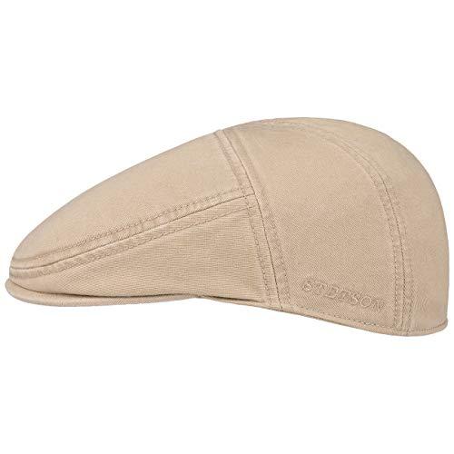 Stetson Paradise Cotton Schirmmütze beige Herren | Flatcap mit UV-Schutz 40+ | Herrenmütze aus Baumwolle | Flat Cap Größen M 56-57 cm | Schiebermütze Sommer/Winter
