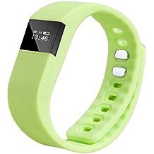 Gossip Boy TW64 - Pulsera inteligente de actividad con Bluetooth, reloj y podómetrocompatible con sistema operativo Android IOS, verde, 242mm*20mm*12mm
