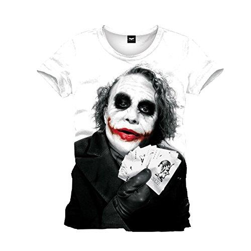 Batman-Joker-Poker-Herren-T-Shirt-Wei