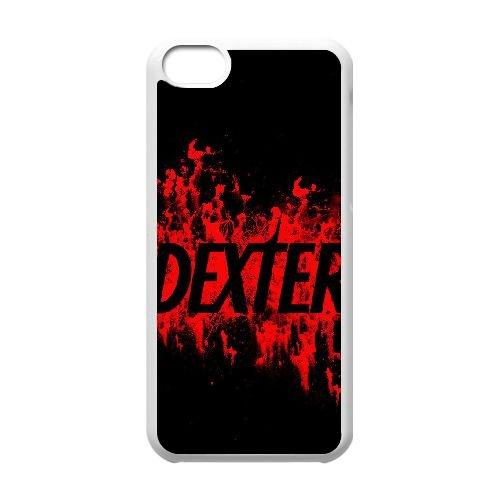 Dexter Blood coque iPhone 5C Housse Blanc téléphone portable couverture de cas coque EBDXJKNBO09514