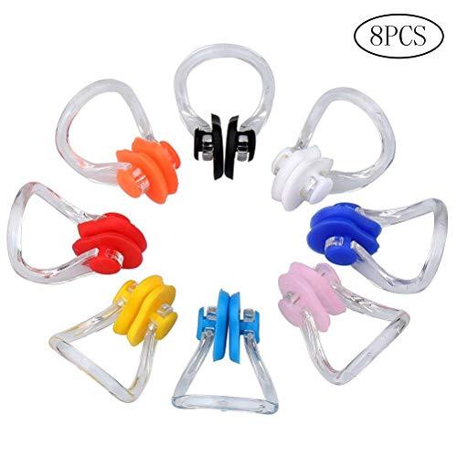 ruix EZ Share 8Stück Schwimmen Nose Clip Silikon Swim Training Displayschutzfolie Plug, jede Farbe für 1Stück