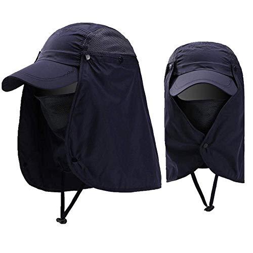 BJYG Hut Männer und Frauen Hut im Freien Radfahren atmungsaktiv Sonnenhut Sonnenschutz UV-Schutz (Us-navy Radfahren)
