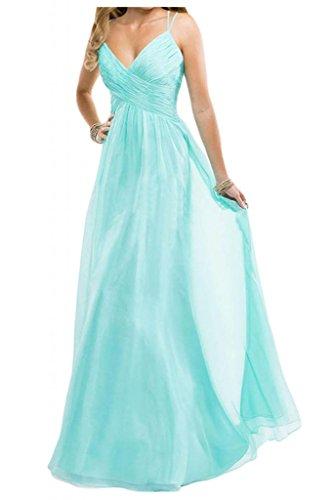 Toscana sposa dall'effetto Chiffon Rueckenfrei vestimento per damigella Party Ball stanotte Bete vestimento Acquamarina