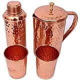 [Sponsored]Hammered Copper Jar & Bottle With 2 Glasses