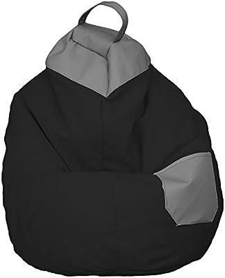 Puff de Pera Full Equip XL (75x75x120) (Negro)