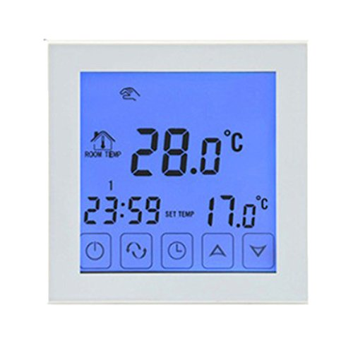 Homyl Groß WIFI Sprachsteuer Funk Thermostat Fußbodenheizung LCD Temperaturregler Programmierbar - Funk-thermostat Wifi