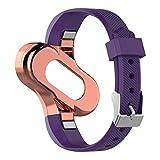 ATpart Uhrenarmband Silikon Ersatz Armband Uhrenarmband Edelstahl Lünette für Xiaomi MiBand 3 Smart Armband Mi 3 Smart Watch Armbänder