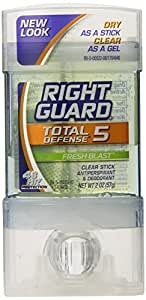 Right Guard Total Defense Clear Stick, Fresh Blast, 2-Ounce Units (4 Pack)