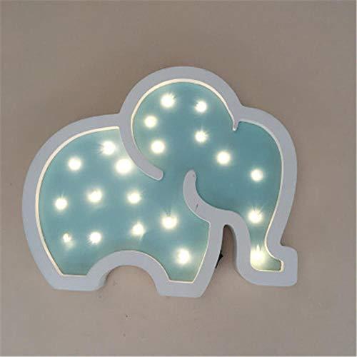 ASDFA Elefant Led Nachtlicht Innendekoration Niedliche Elefanten Lampe Tischlampe Kindergarten Innendekoration Schlafzimmer Geburtstagsfeier Weihnachten@Blau Dekoration -