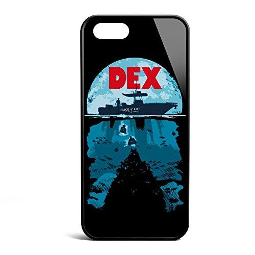 Smartcover Case Deep Secrets z.B. für Iphone 5 / 5S, Iphone 6 / 6S, Samsung S6 und S6 EDGE mit griffigem Gummirand und coolem Print, Smartphone Hülle:Iphone 5 / 5S weiss Iphone 5 / 5S schwarz
