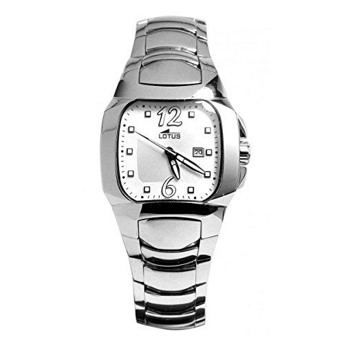 Lotus - Reloj señora acero, color acero y blanco