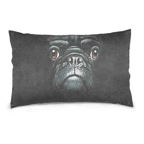 Art Ape Washable Removable Pillow Cover for Home & Hotel Collection Size 20 x 30 Inch Green Pillow Cases ()